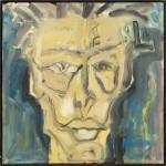 Zelfportret 7, acrylverf op linnen, 100 x 100 cm, Nico Bakker