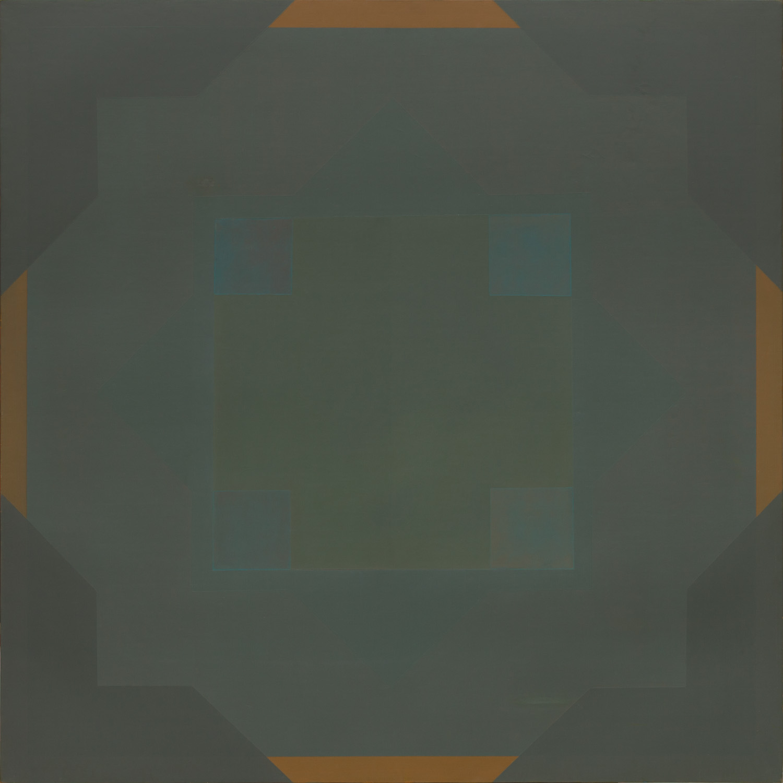 Titel onbekend (SQ-06), olieverf op linnen, 100,5 x 98,5 cm, Nico Bakker