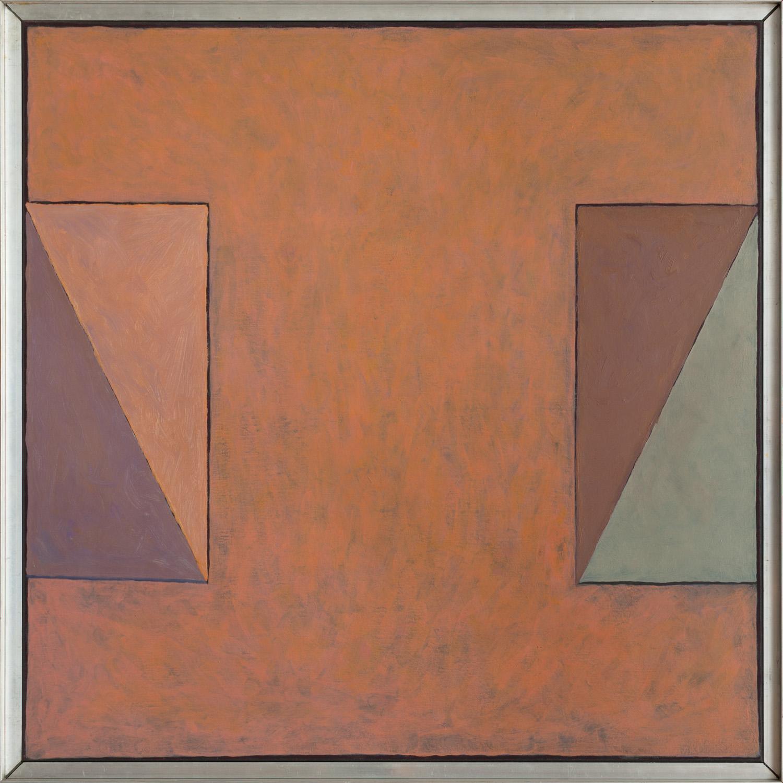 Quaint square (SQ-04), olieverf op linnen, 90x 90 cm, Nico Bakker
