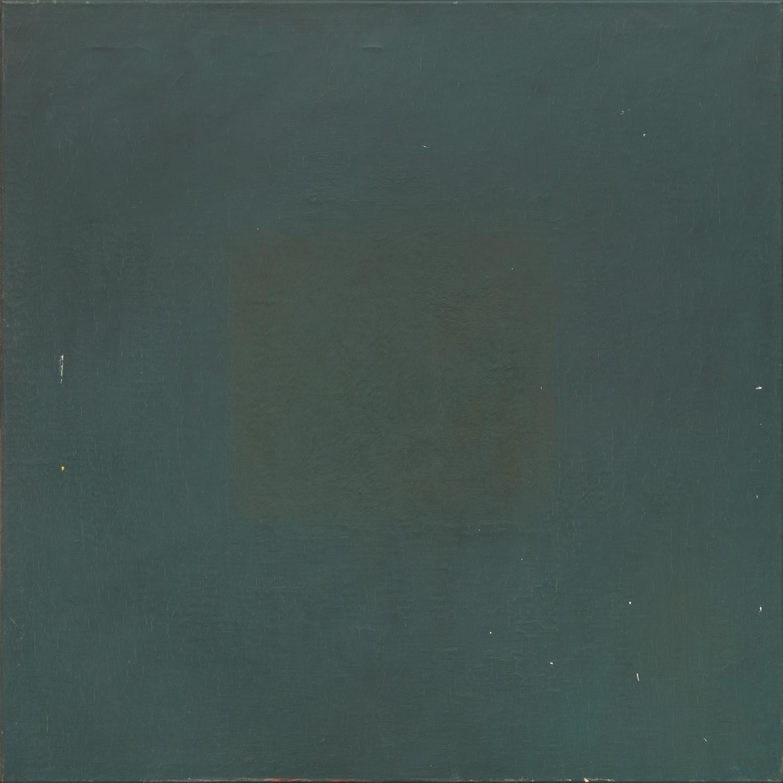 Titel onbekend (SQ-11), olieverf op linnen, 100 x 100 cm, by Nico Bakker