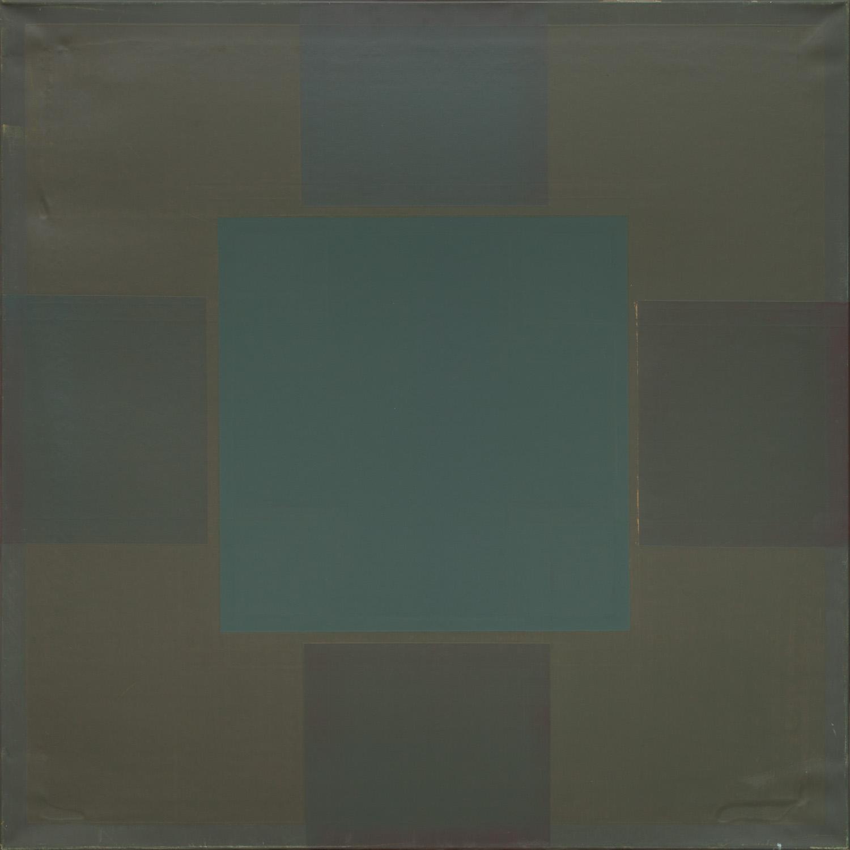 Titel onbekend (SQ-08), olieverf op linnen, 100 x 100 cm, by Nico Bakker