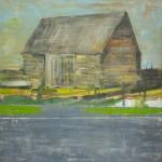 Titel onbekend (LO-01), olieverf op linnen, 200 x 200 cm, Nico Bakker
