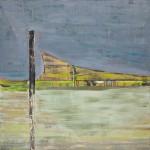 Titel onbekend (LO-02), olieverf op linnen, 200 x 200 cm, Nico Bakker