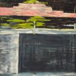 Titel onbekend (LO-03), olieverf & houtskool op linnen, 200 x 200 cm, Nico Bakker
