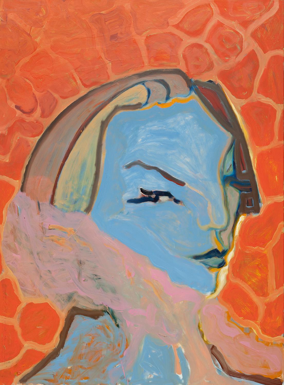 Titel onbekend (PO-03), olieverf op linnen, 140 x 190 cm, Nico Bakker