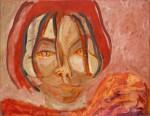 Titel onbekend (PO-02), olieverf op linnen, 180 x 140 cm, Nico Bakker