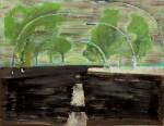 Titel onbekend (LO-04), olieverf op linnen, 180 x 140 cm, Nico Bakker