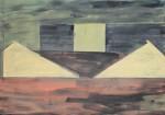 Titel onbekend (LO-06), olieverf op linnen, 200 x 140 cm, Nico Bakker
