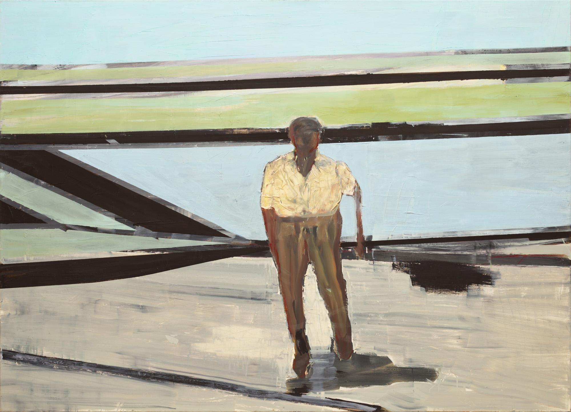 Dogged person, olieverf op linnen, 200 x 145 cm, Nico Bakker