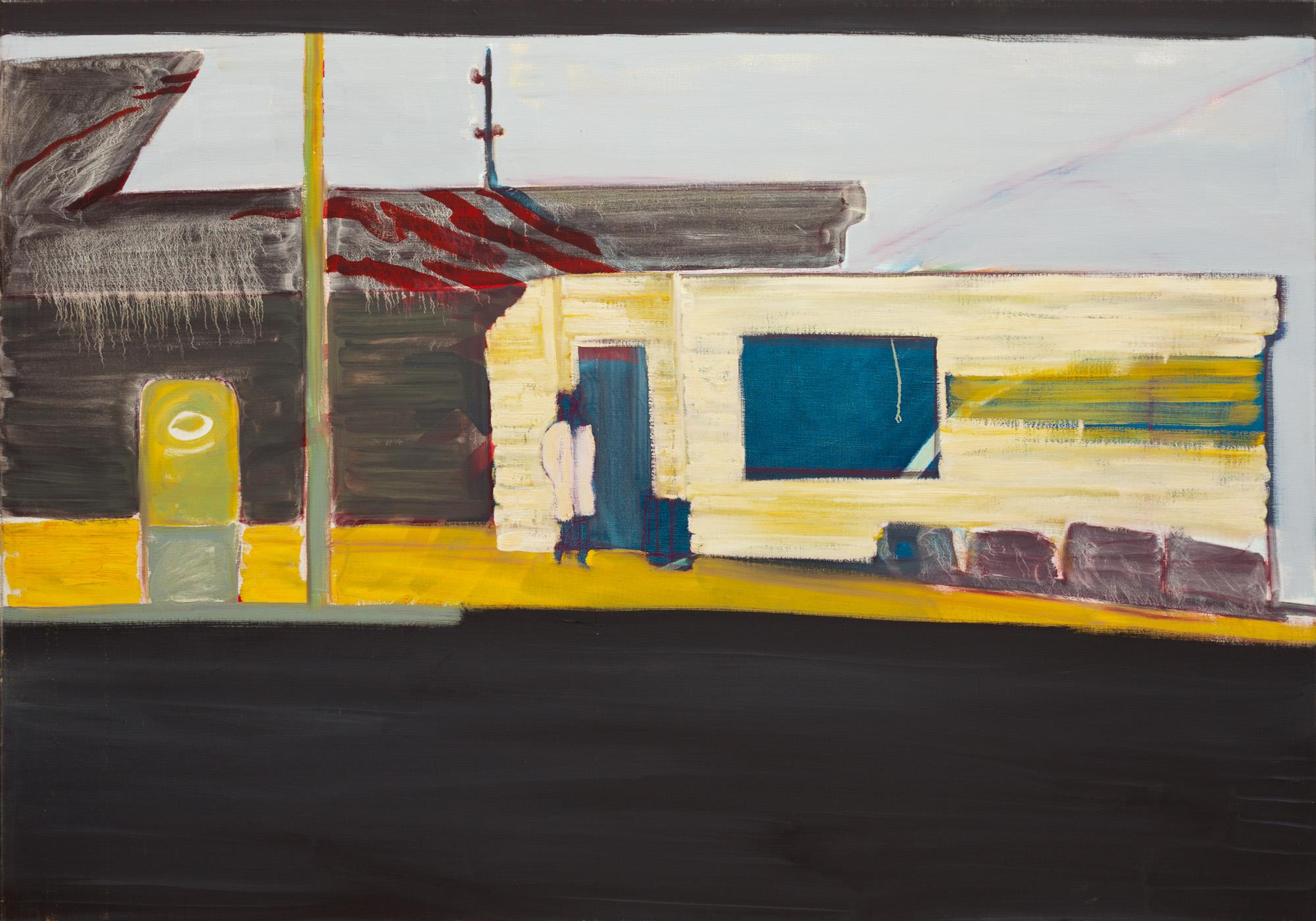 Titel onbekend (LA-03), olieverf op linnen, 200 x 140 cm, Nico Bakker