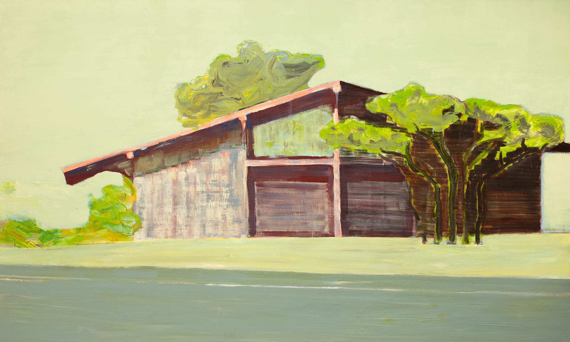 Front, olieverf op linnen, 300 x 180 cm, Nico Bakker