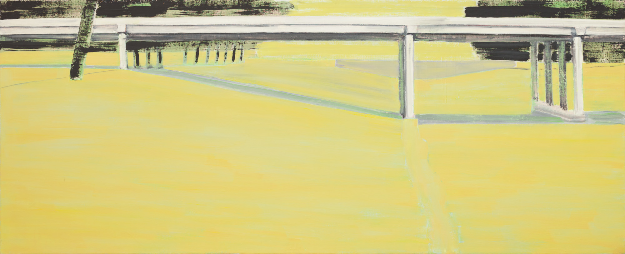 Crime scene, olieverf op linnen, 320 x 130 cm, Nico Bakker