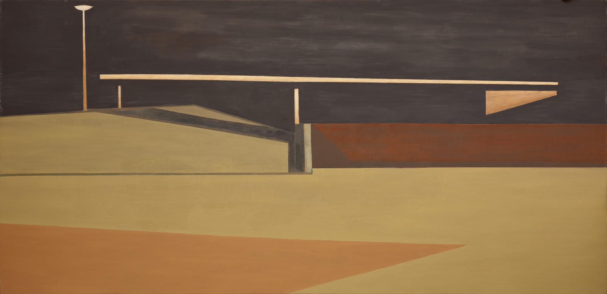 Night scene, olieverf op linnen, 370 x 180 cm, Nico Bakker