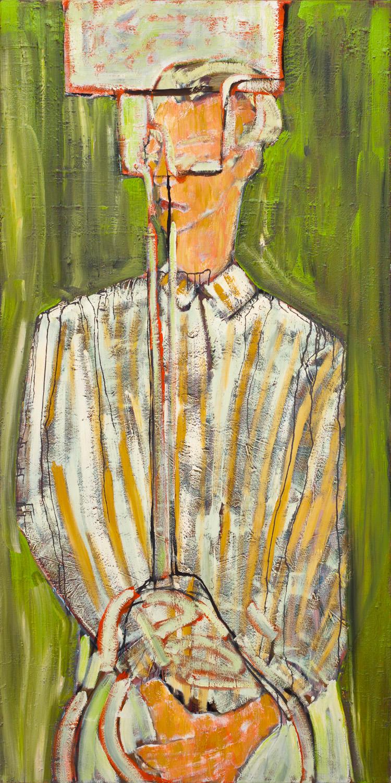 Titel onbekend (PO-04), olieverf op linnen, 100 x 200 cm, Nico Bakker