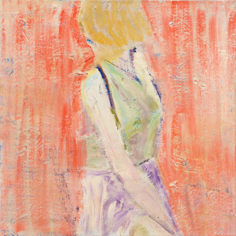 Titel onbekend (PO-05), olieverf op linnen, 85 x 85 cm, Nico Bakker