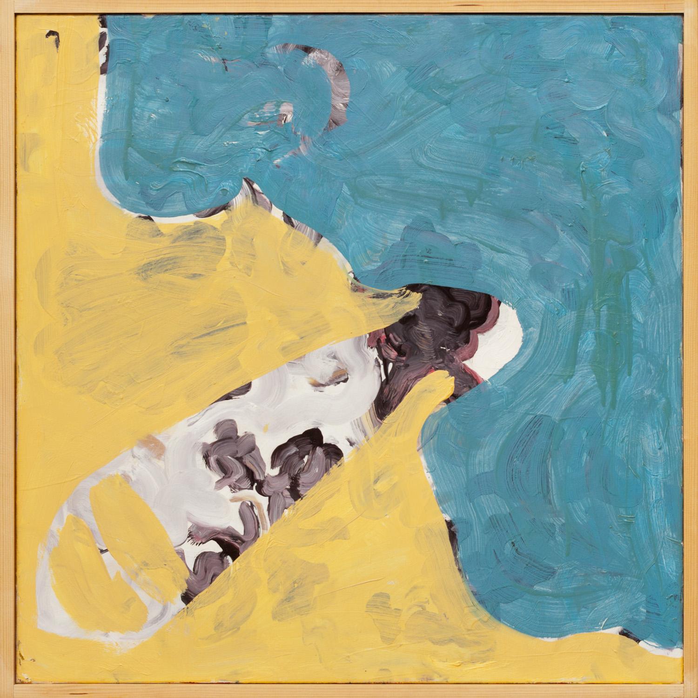 Zonder titel nr. 3, olieverf op linnen, 80 x 80 cm, Nico Bakker