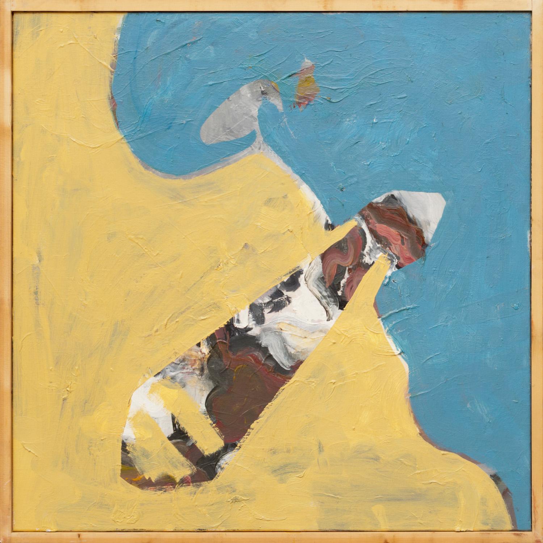 Zonder titel nr. 2, olieverf op linnen, 85 x 85 cm, Nico Bakker