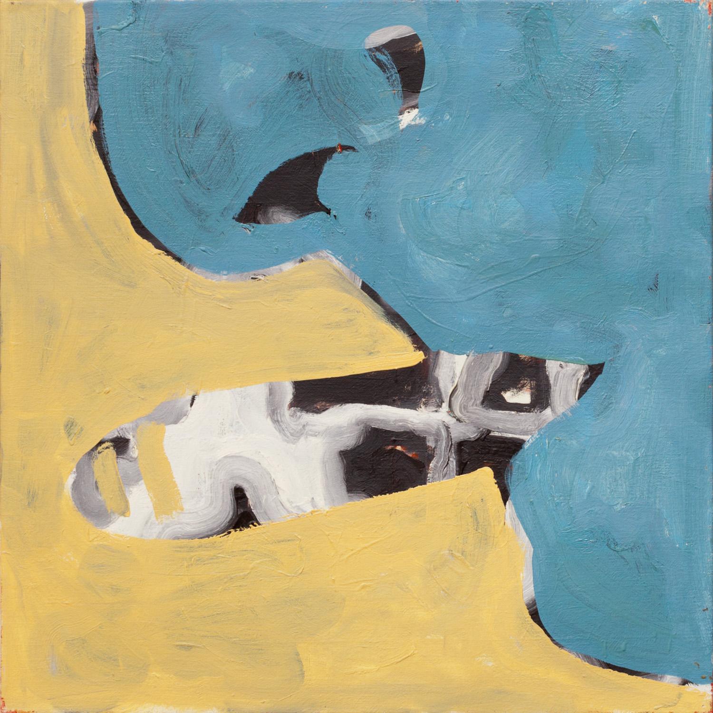 Zonder titel nr. 4, olieverf op linnen, 80 x 80 cm, Nico Bakker