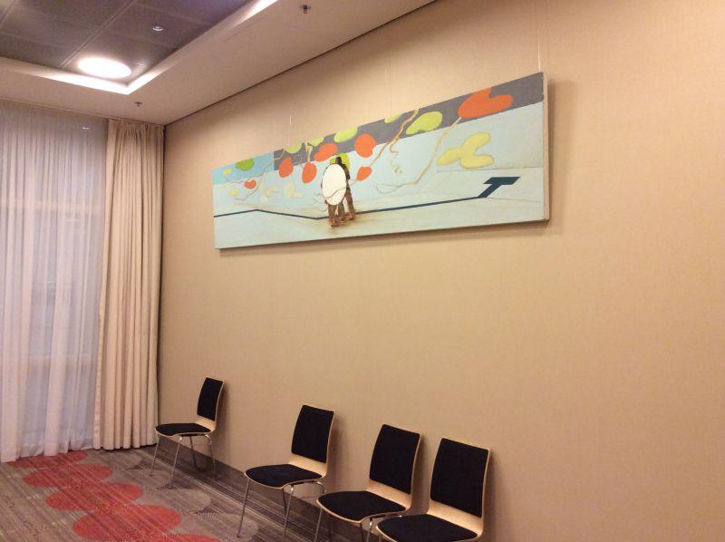 Drained Pool, schilderij in olieverf van Nico Bakker